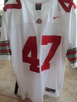 A.J. Hawk Ohio State Buckeyes authentic Nike white throwback stitched #47 jersey