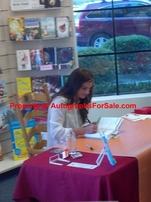 Alex Morgan autographed The Kicks (Saving the Team) hardcover soccer book