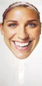 Alex Morgan face U.S. Soccer promotional cardboard fan MINT