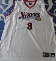 Allen Iverson Philadelphia 76ers white authentic Adidas double stitched jersey NEW