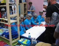 Aquabats autographed 2014 Comic-Con exclusive 18x24 lithograph by artist Dave Perillo (#/125)