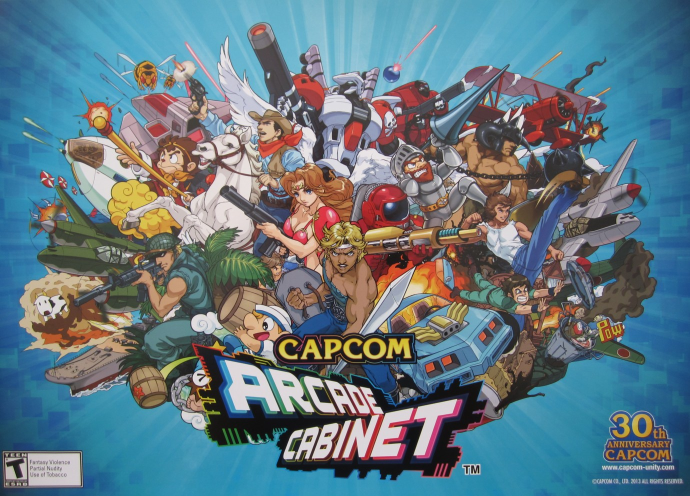 Arcade Cabinet Video Game Capcom Promo 14x20 Poster Mint