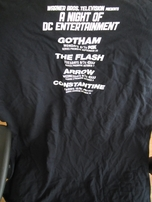Arrow Constantine Flash Gotham DC WB 2014 Comic-Con exclusive T-shirt