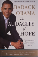 Barack Obama autographed The Audacity of Hope hardcover first edition book