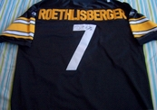 Ben Roethlisberger autographed Pittsburgh Steelers authentic Reebok jersey with Super Bowl 40 patch