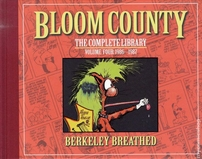 Berke Breathed autographed Bloom County Complete Library V4 book (MILO remarqued) #31/100