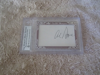 Bill Clinton & Al Gore 2012 Leaf Executive Masterpiece Dual Cut Signature card #1/1