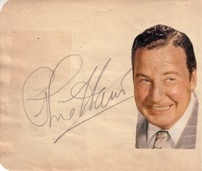 Bill Goodwin & Phil Harris autographed autograph album or book page