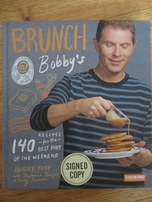 Bobby Flay autographed Brunch at Bobby's hardcover cookbook