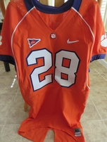 C.J. Spiller Clemson Tigers authentic Nike TEAM ISSUED stitched orange jersey