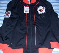 Cal Ripken autographed 1984 Baltimore Orioles Mitchell & Ness batting practice jacket