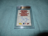 Cal Ripken certified autograph 1994 Classic 2000 Consecutive Games card BGS graded 9.5 GEM MINT (JSA)
