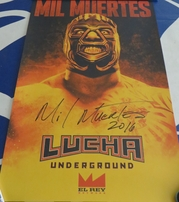 Catrina & Mil Muertes autographed Lucha Underground 2016 Comic-Con poster set