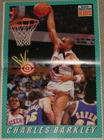 Charles Barkley Philadelphia 76ers 1991 Sports Illustrated for Kids magazine with poster