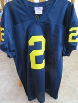 Charles Woodson Michigan Wolverines blue stitched #2 jersey NEW