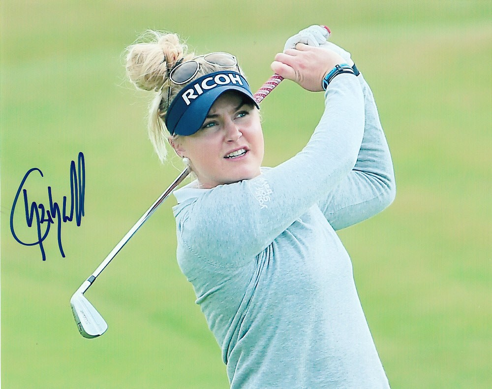 Charley Hull autograph