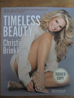 Christie Brinkley autographed Timeless Beauty hardcover book