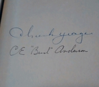 Chuck Yeager & Bud Anderson autographed Yeager autobiography hardcover book