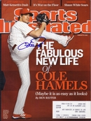 Cole Hamels autographed Philadelphia Phillies 2009 Sports Illustrated