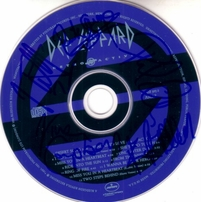 Def Leppard autographed Retro Active CD matted & framed with 8x10 photo