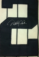 Derek Jeter autographed New York Yankees jersey number framed with Sports Illustrated cover