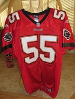 Derrick Brooks Tampa Bay Buccaneers red Adidas 1998-2001 game model jersey NEW WITH TAGS
