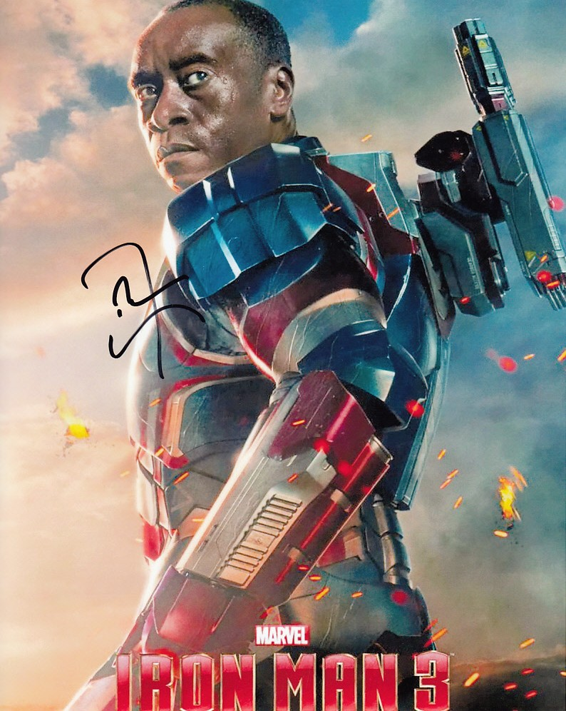 Don Cheadle autographed Iron Man 3 War Machine 8x10 photoDon Cheadle War Machine