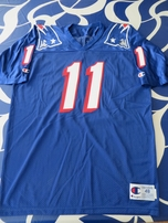 Drew Bledsoe New England Patriots authentic 1995-1999 style Champion stitched blue jersey