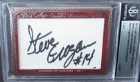 Drew Bledsoe & Steve Grogan certified autograph 2012 Leaf Executive Masterpiece Dual Cut Signature card #1/1