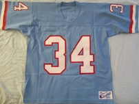 Earl Campbell Houston Oilers authentic original Champion baby blue stitched jersey