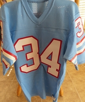Earl Campbell Houston Oilers authentic Sand-Knit stitched jersey