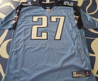 Eddie George Tennessee Titans authentic Reebok double stitched light blue jersey NEW