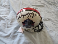Eric Dickerson & Jack Youngblood autographed Pro Football Hall of Fame authentic mini helmet