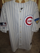 Ernie Banks autographed Chicago Cubs 1969 authentic Majestic throwback jersey