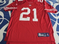 Frank Gore San Francisco 49ers authentic Reebok stitched red jersey (2009 2010 2011 style)