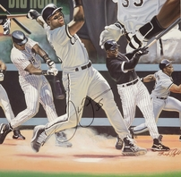 Frank Thomas autographed Chicago White Sox lithograph #103/300