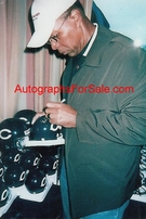 Gale Sayers autographed Chicago Bears throwback mini helmet inscribed HOF 77