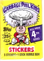Garbage Pail Kids 4th Series full box of 48 unopened wax packs (5 sticker cards each)