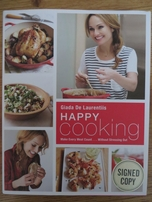 Giada De Laurentiis autographed Happy Cooking hardcover cookbook