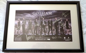 Gotham cast autographed 2015 Comic-Con poster matted & framed (David Mazouz Ben McKenzie Sean Pertwee Erin Richards Robin Lord Taylor)