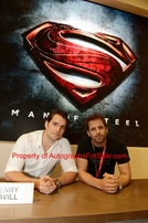Henry Cavill & Zack Snyder autographed Man of Steel movie 2012 Comic-Con poster matted & framed