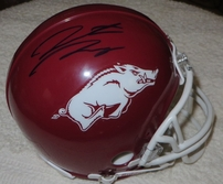 Hunter Henry & Darren McFadden autographed Arkansas Razorbacks mini helmet