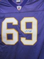 Jared Allen autographed Minnesota Vikings authentic throwback Reebok jersey