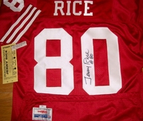 Jerry Rice autographed San Francisco 49ers original 1990s Wilson Pro Line game model jersey