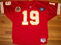 Joe Montana 1994 Kansas City Chiefs authentic Wilson Pro Line red stitched game model jersey
