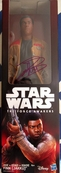 John Boyega autographed Star Wars The Force Awakens movie Finn action figure