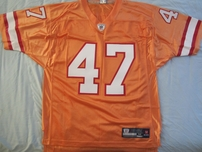 John Lynch Tampa Bay Buccaneers 1993 rookie orange authentic Reebok NFL Equipment stitched jersey NEW