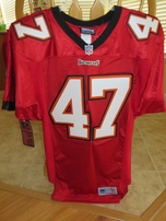 John Lynch Tampa Bay Buccaneers red Adidas authentic 1998-2001 game model jersey NEW WITH TAGS