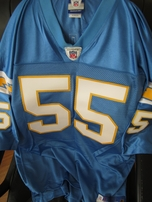 Junior Seau San Diego Chargers 2002 authentic Reebok powder blue stitched jersey