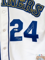 Ken Griffey Jr. autographed Seattle Mariners 1989 rookie Mitchell & Ness authentic game model jersey UDA #170/240